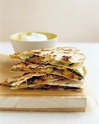 Zucchini Quesadillas - a martha recipe that uses ingredients we typically have on hand