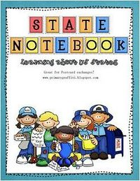 50 States book (free) and resource binder--great printables!