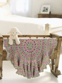 Caron Candy Cable Baby Blanket
