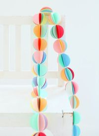 Beautiful paper garland.