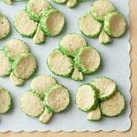 Shamrock Cookies. I think I would add food coloring to the dough.