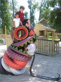 Tire Dragon! via playground design blogspot