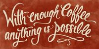 Coffee Typography Sign