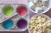 Do you ever have one of those days when you read about a creative idea someone had and you just have to do it right away? Katherine inspired me so much with her popcorn painting and beautiful photos, that 15 minutes after I read her post, the snacks were ...