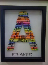 Super cute frame/name plate for the door of a classroom?