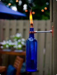DIY torches for the patio