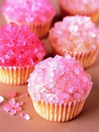 Rock stars: Top frosted cupcakes with rock candy.