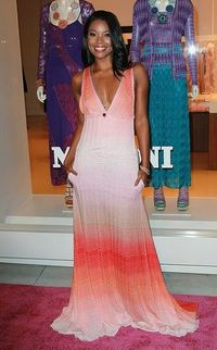normally not a fan of ombre, but the color is smashing on her. missoni.