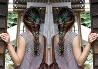 I've had turquoise hair before.... but it was all over and very juvenile. This is just lovely.... especially braided.