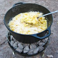 camping macaroni and cheese. YUMMM