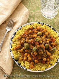 Moroccan Style Olives and Chickpeas