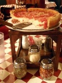 Giardano's Chicago deep dish pizza... yes, that's CHEESE.