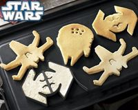 Star wars pancakes. Yum!