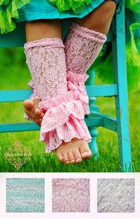 Lace Legwarmers with lots of ruffles