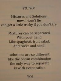 solutions vs mixtures poem